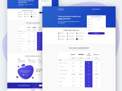 Software Comparison Landing Page