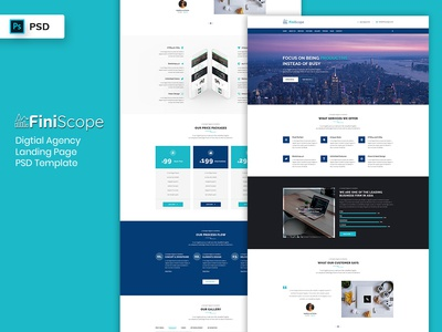 Digital Agency Landing Page PSD Template
