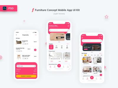 Furniture App UI Kit Light Version