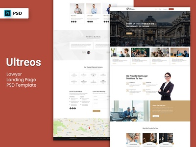 Lawyer Landing Page PSD Template