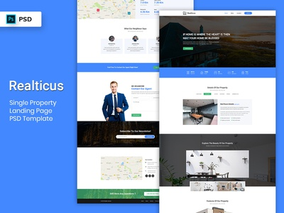 Single Property Landing Page PSD Template