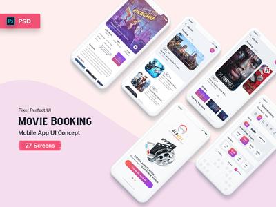 Ocodile-Movie Booking Mobile App UI Kit Light