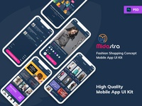 Midastra-Fashion Shopping Mobile App UI kit Dark
