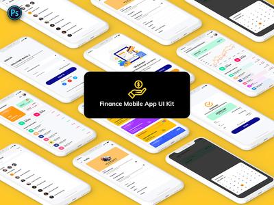 Finance Mobile App Template UI Kit Light Version