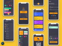 Finance Mobile App Template UI Kit Dark Version