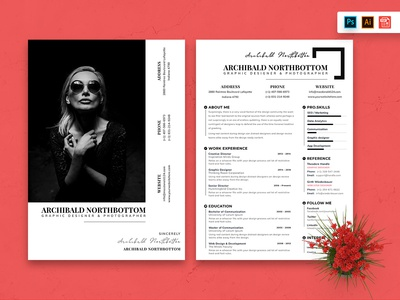 Resume CV Template-74 business paper clean minimal trend contract a4 corporate identity letterhead cv resume