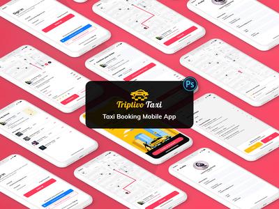 Taxi Booking Mobile App UI Kit Light Version