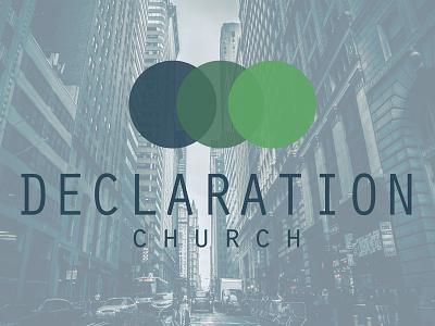 Declaration Church blue green blue green circles design texas station college delcaration church