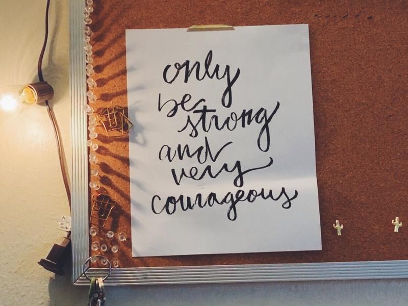 calligraphy print