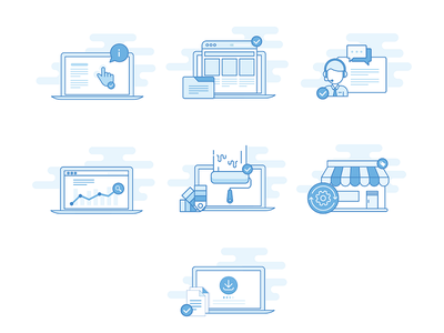 Icons Project for themeart.de  project webdesign work website illustration icons