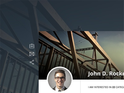 Business Angel Profile website overlay profile vcard avatar widget user business angel