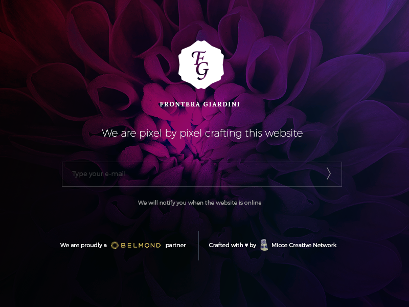 Coming Soon Page luxury flower work in progress under construction homepage coming soon