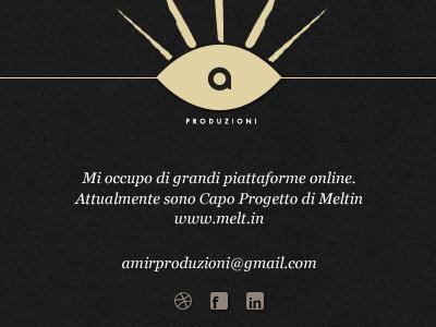 Personal website webdesign dark onepage clean personal website