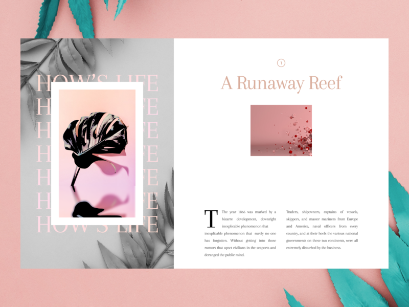 Daily UI series::007 creative story articles blog article grid typography typogaphy ui inspiration design inspiration daily inspiration design challenge daily ui split screen concept clean
