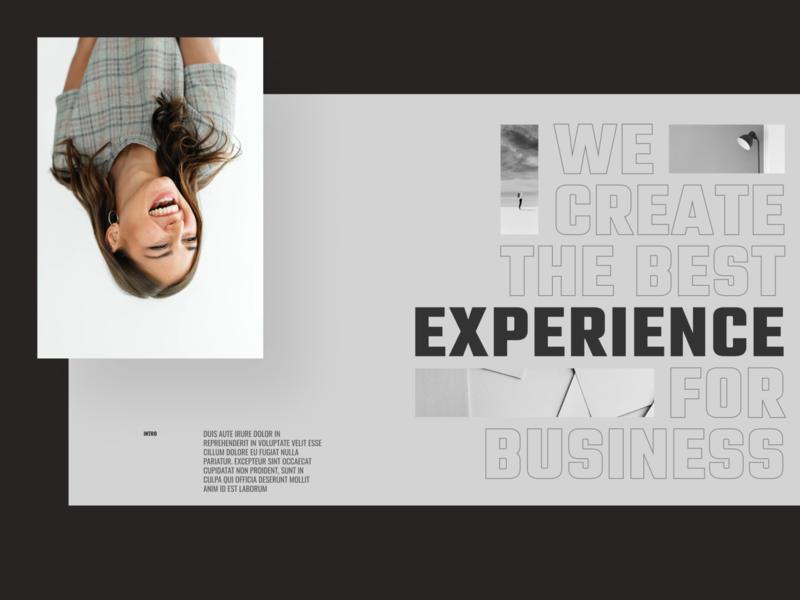 Daily UI series::008 ui challenge uidesign daily ui portfolio grid daily inspiration design challenge dailyui banner hero header ui typo typography layout concept minimal creative