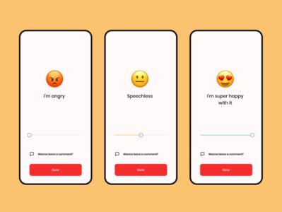 Rate - emoji minimal illustration ui design onboarding star rating rate slide emoji ui clean concept