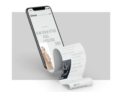 Dossena - Fashion store minimalist userinterface elegant banner ecommerce hero header grid clean ui typo typography layout concept creative minimal