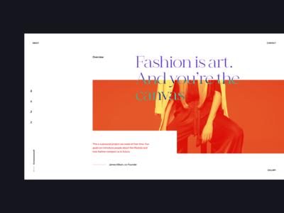 Fashion is art daily ui userinterface user interface minimalist showcase portfolio side project case study banner hero header grid clean ui typo typography layout concept creative minimal