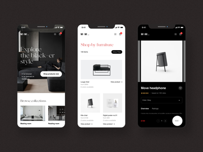 MNML add to cart rating user inteface ecommerce app gallery clean mobile first responsive shopping ecommerce minimalist banner hero header ui typo typography layout concept creative minimal