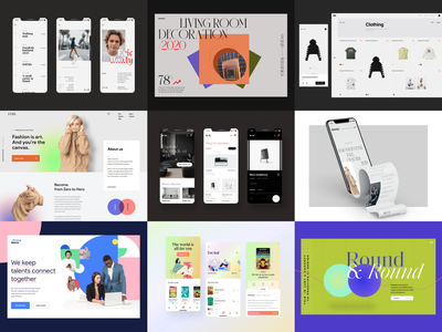 The best nine of 2020 classic ui visual design minimalist hero header concept typography layout visual user interface app design mobile app mobile design web design ui design showcase collection best minimal