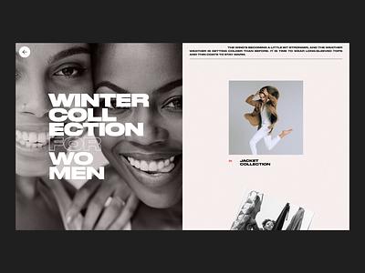 Ecommerce- Layout Concept design inspiration daily ui fashion shopping minimalist navigation scroll slide dailyui ecommerce typo ui hero header typography layout concept creative minimal gallery homepage