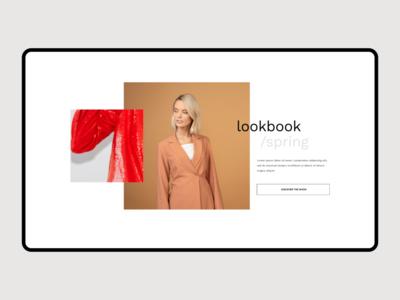 Fashion store hero header banner ui typography concept grid clean minimalist minimalism minimal dailyui webdesign ecommerce design layout creative ecommerce