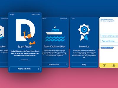 web app for internal workshop german germany onboarding design app design app ui