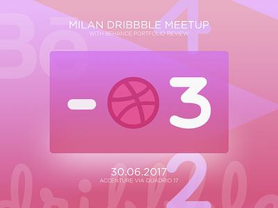 Milan Dribbble Meetup Card accenture behance uidesign milan milandribbblemeetup dribbblemeetup dribbble