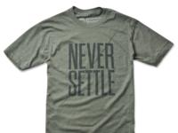 Never settle600