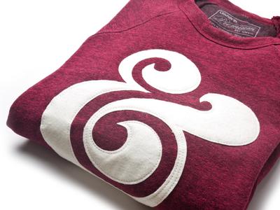 Cranberry Crewnecks ugmonk apparel ampersand product photography