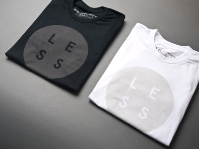 Less, but better ugmonk less tshirt tee apparel clothing minimal typography