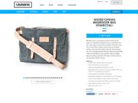 Waxed canvas messenger bag  charcoal    ugmonk2