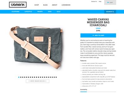 Waxed Canvas Messenger Bags