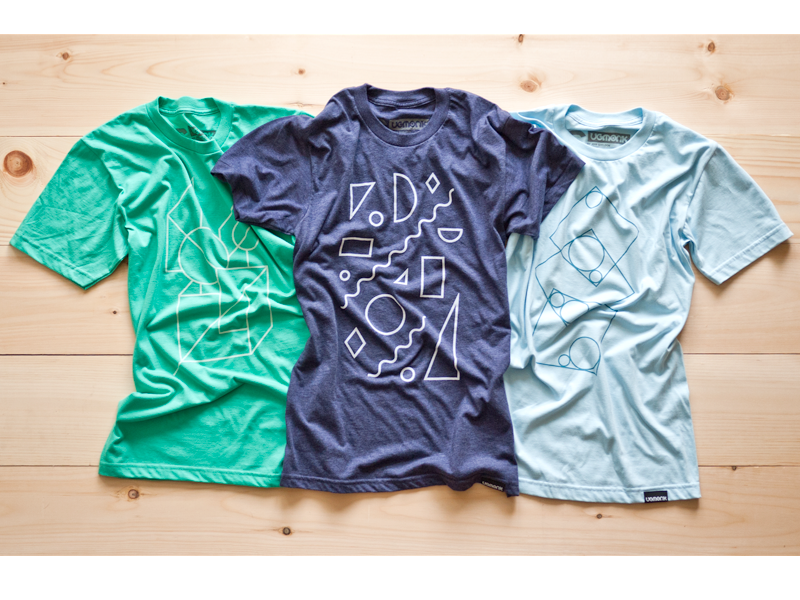 Shape Series ugmonk tshirt apparel product photography shapes
