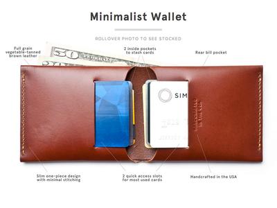 Minimalist Wallet ugmonk leather product product photography minimal wallet