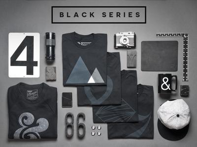 Black Series apparel products minimal ampersand black gear ugmonk black series product photography