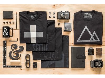 Ugmonk Black Series II minimal ampersand things organized neatly product photography product design ugmonk black black series