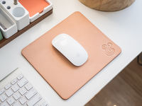Natural Leather Mousepad