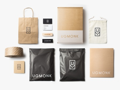 Ugmonk Custom Packaging mailers boxes packaging branding minimal typography logo ugmonk