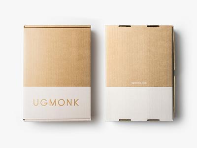 New custom boxes  box cardboard kraft minimal packaging ugmonk