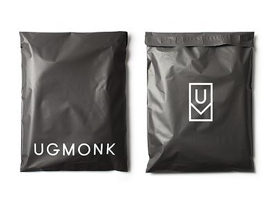 Matte Black Mailers poly mailer mailer logo branding black matte packaging ugmonk