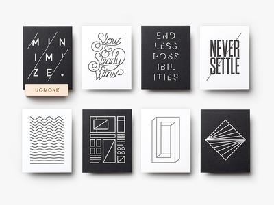 Mini Letterpress Prints cards prints letterpress ugmonk