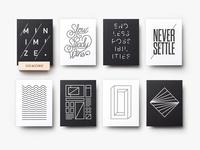 Mini Letterpress Prints