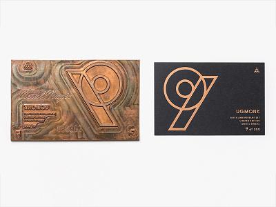 9th Anniversary Cards card letterpress foil 9th nine ugmonk