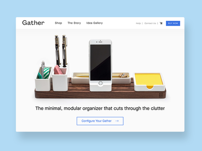 Gather is live! ecomm organizer minimal shop ecommerce web desk organizer gathersystem ugmonk gather