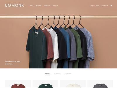 The New Ugmonk fashion shop shopify ecommerce app webshop clothing apparel ugmonk website