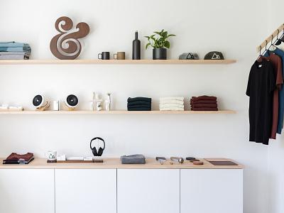 Ugmonk HQ shop interior design minimal ampersand workspace studio office