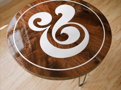 Ampersand Table Giveaway ampersand table wood walnut aluminum typography furniture industrial design ugmonk giveaway