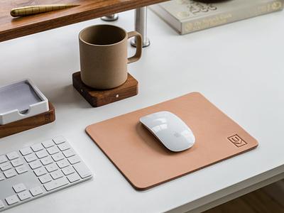 Ugmonk Leather Mousepad product design organization mouse keyboard desk ugmonk office tools mousepad workspace