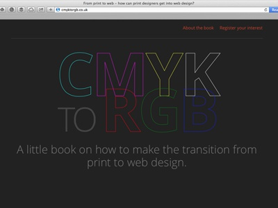 CMYK to RGB Book website
